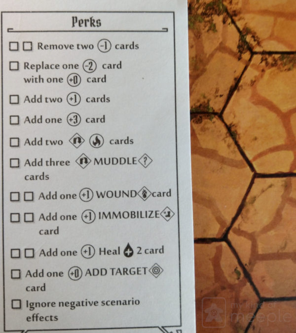 Perks for the Tinkerer in Gloomhaven