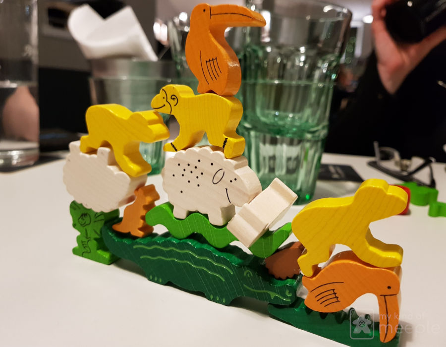 Stacked animeeples in animal upon animal