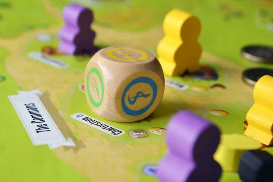 Worker meeples in Charterstone - Image credit: Stonemaier Games
