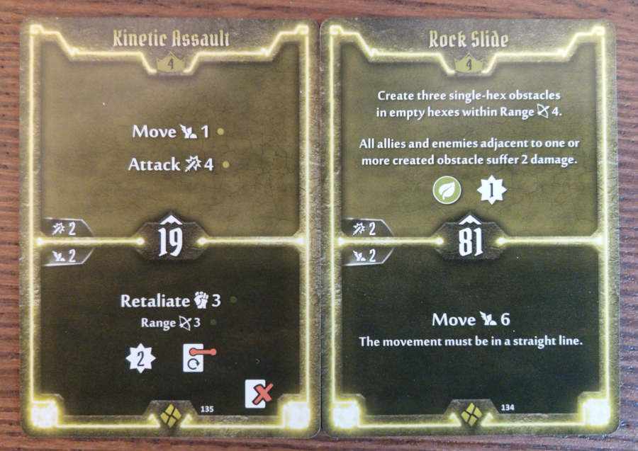 Cragheart level 4 cards - Kinetic Assault and Rock Slide