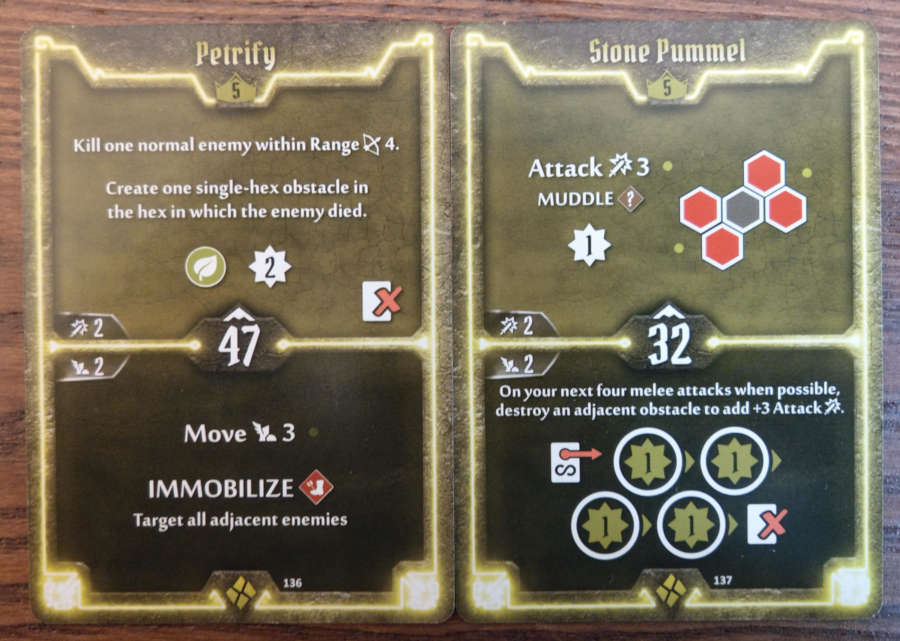 Cragheart Level 5 cards - Petrify and Stone Pummel