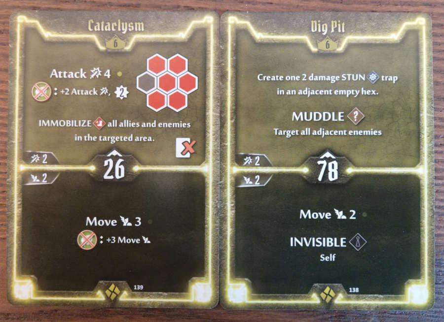 Cragheart Level 6 Cards - Cataclysm and Dig Pit