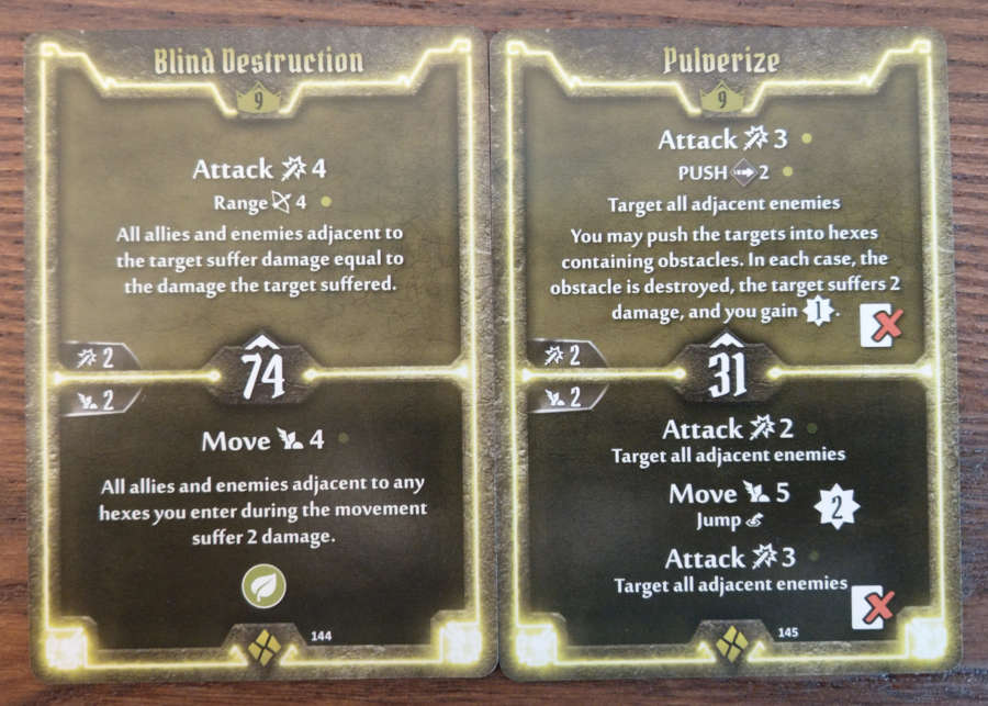 Cragheart Level 9 Cards - Blind Destruction and Pulverize