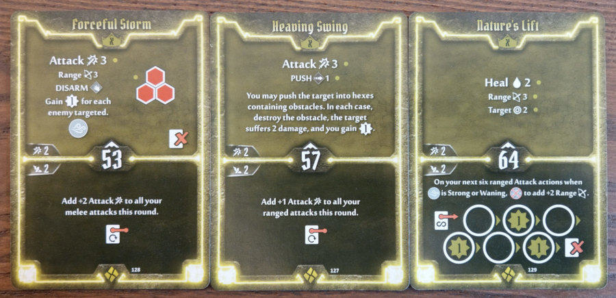 Cragheart Level X cards - Forceful Storm, Heaving Swing and Nature's Lift