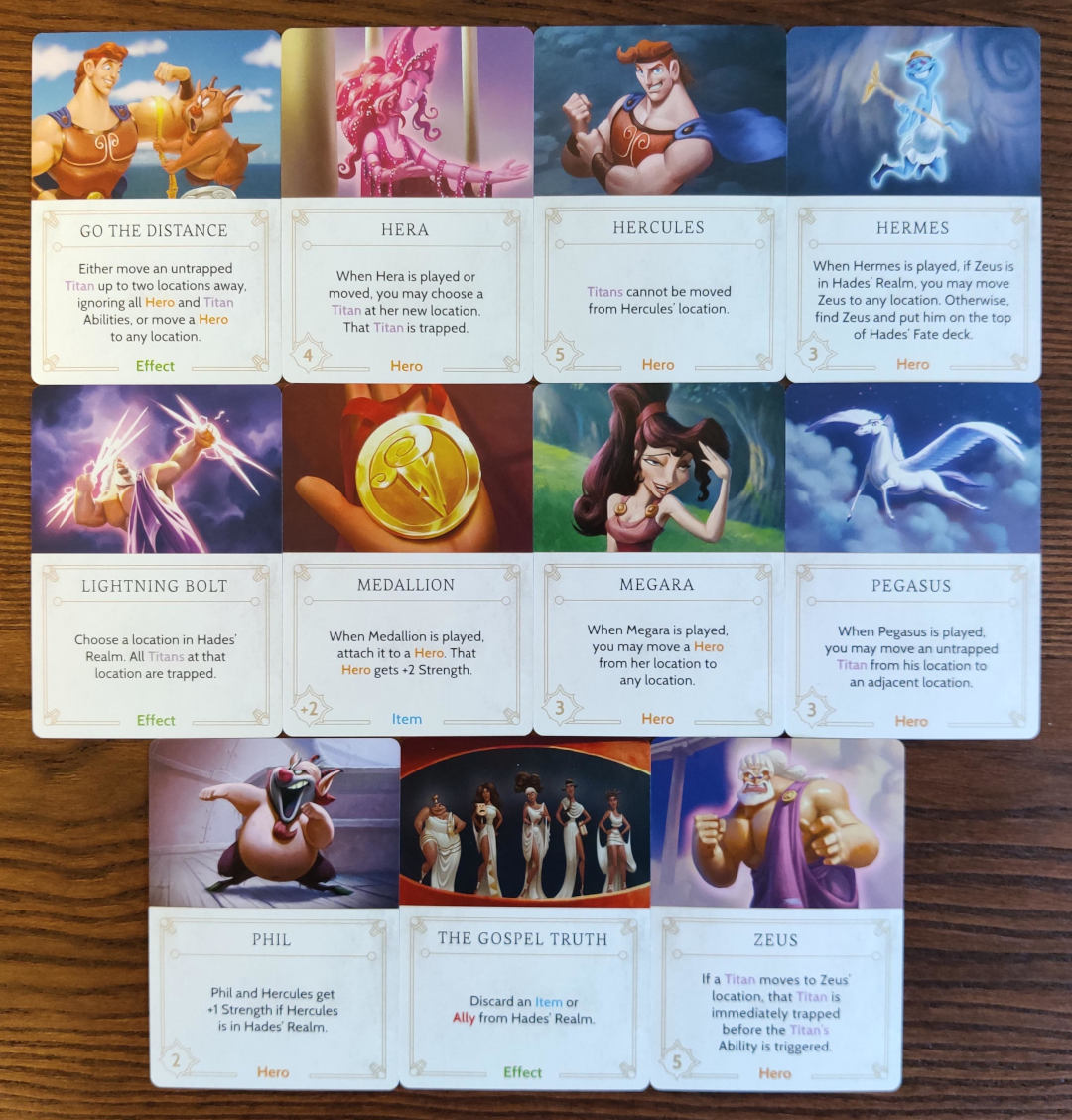 Disney Villainous Hades Fate deck cards