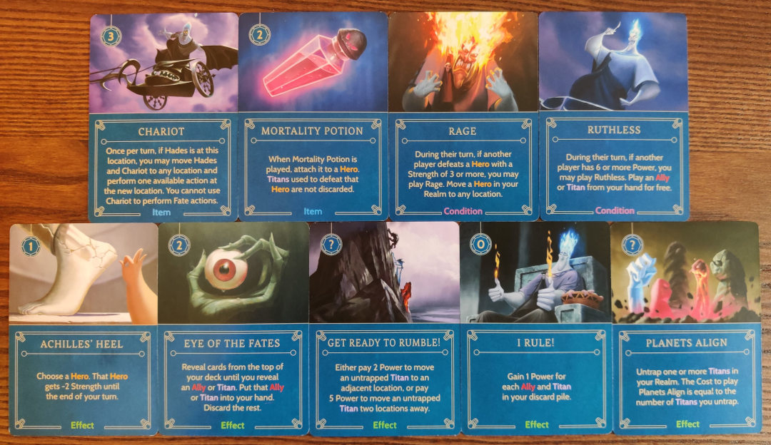 Disney villainous hades cards effect item and conditions