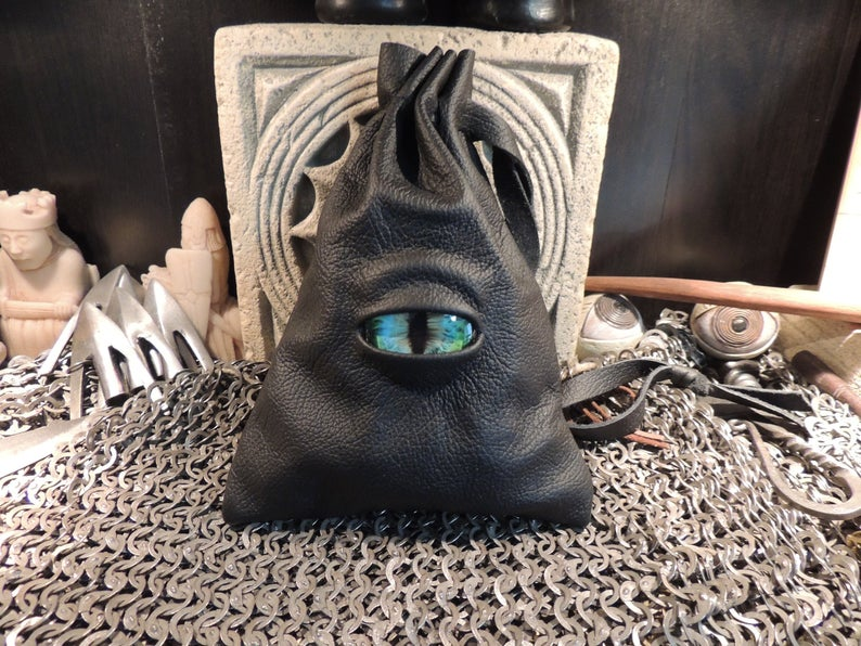 Dragon's eye dice bag. Image credit: Abbots Hollow Studios on Etsy.