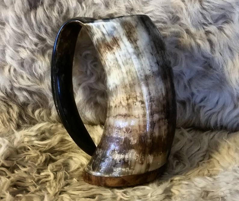 Viking drinking horn. Image credit: WarmHearthCreations on Etsy.
