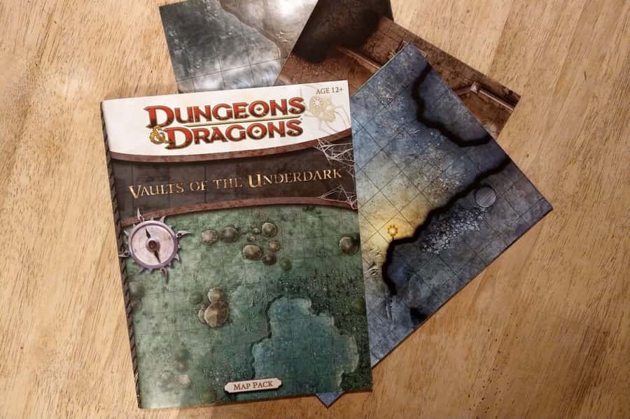 Dungones and dragons vaults of the underdark map pack for use by dungeon masters and players