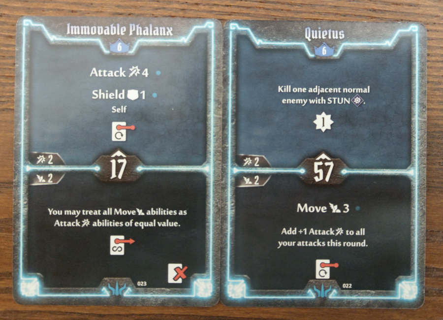 Brute level 6 cards - Immovable Phalanx, Quietus