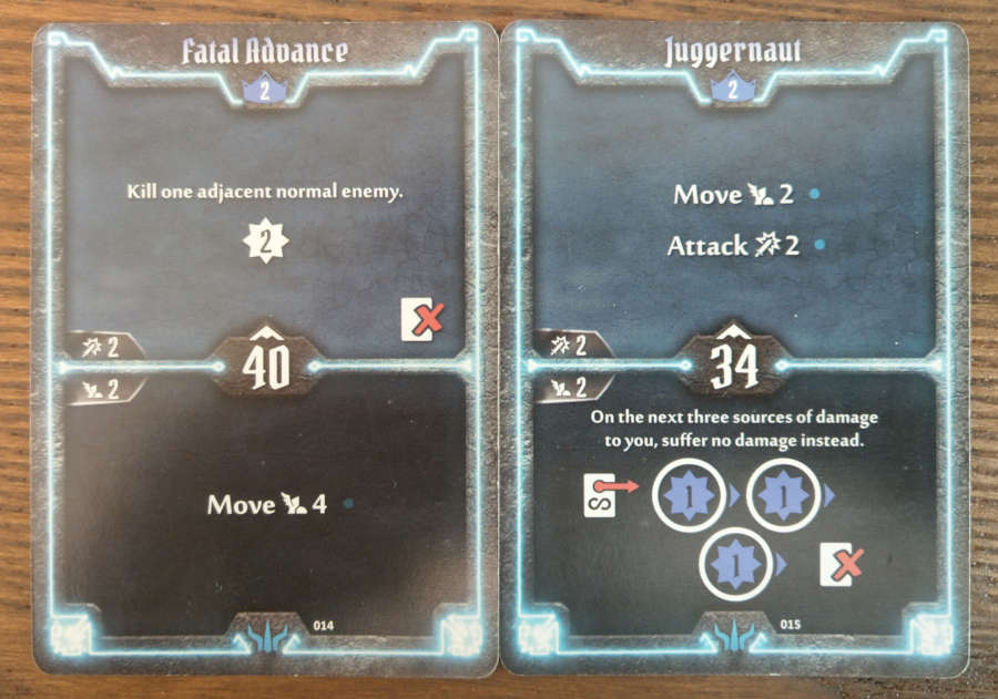 Brute level 2 cards Fatal Advance and Juggernaut