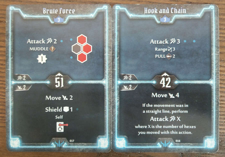 Brute level 3 cards - Brute Force, Hook and Chain