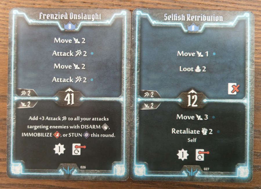 Brute level 7 cards - Crippling Offensive, Defensive Tactics