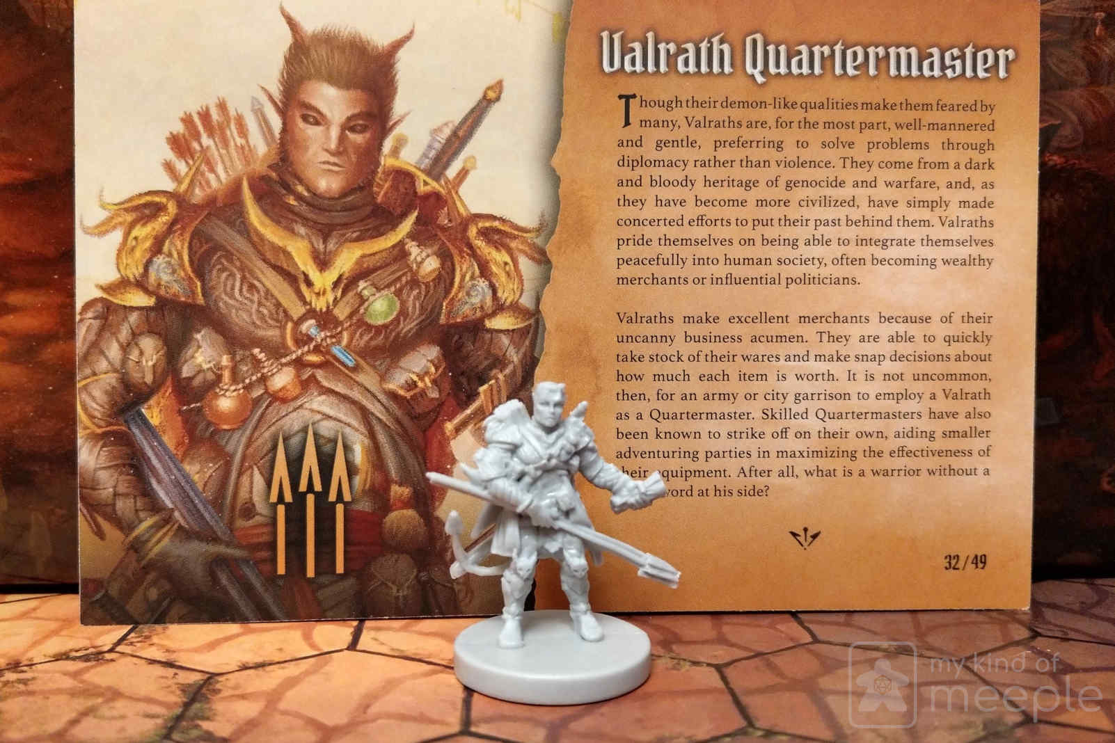Gloomhaven Quartermaster locked class miniature and character board