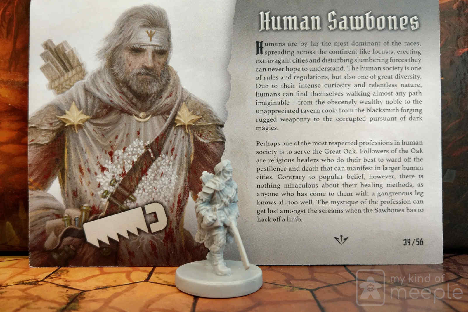 Gloomhaven Sawbones unlockable class miniature and character board