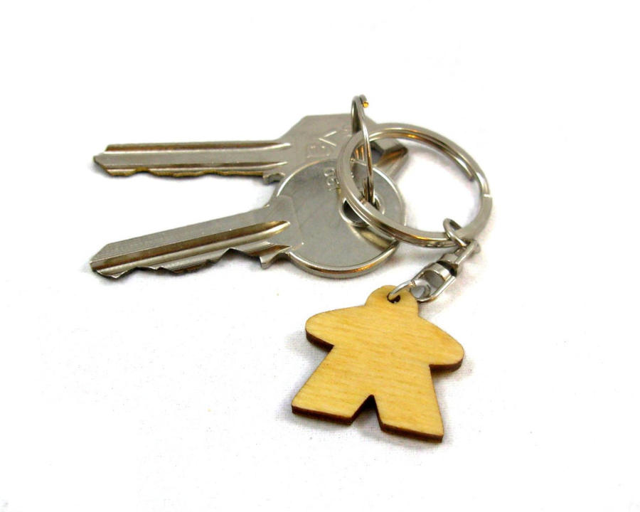 Meeple keychain. Image credit: Epicycle Designs on Etsy