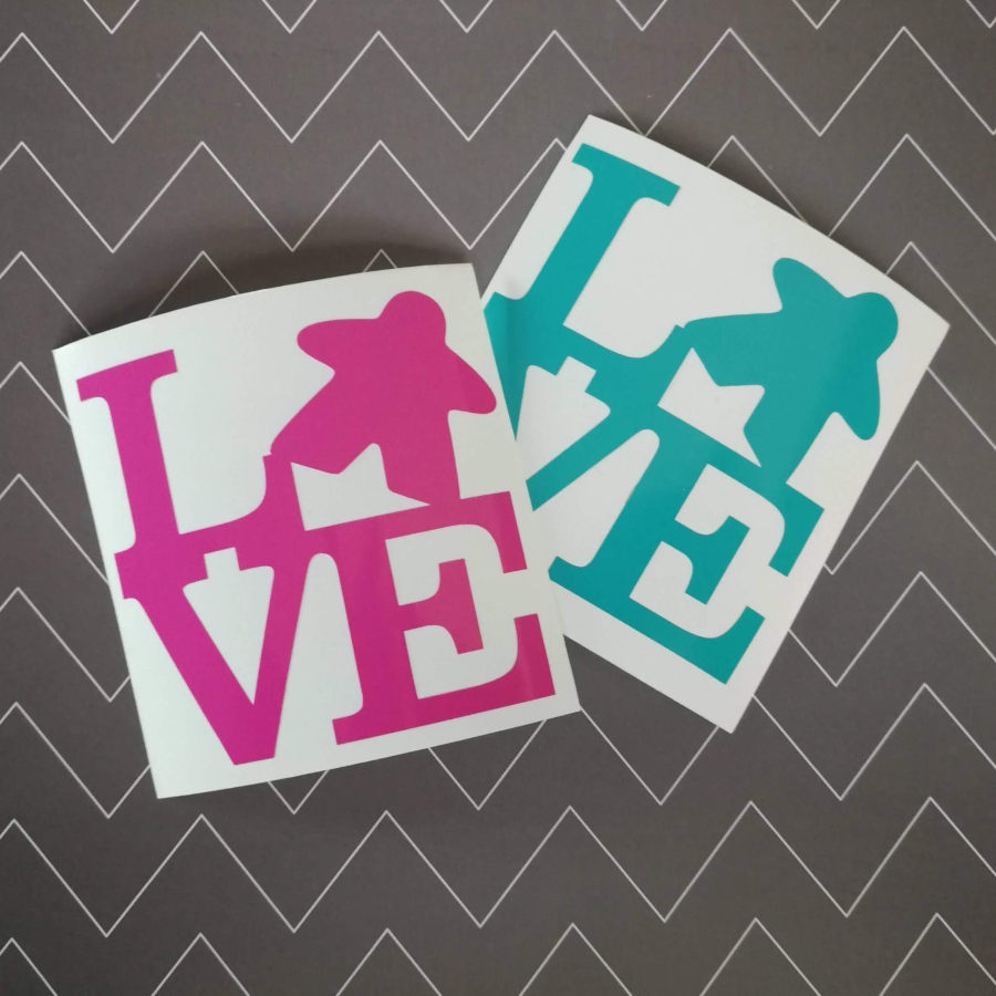 Meeple stickers. Image credit: Geeky Goodies Shop on Etsy