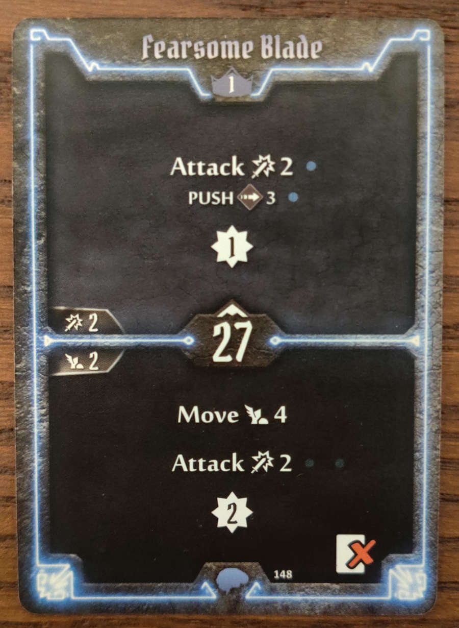 Mindthief level 1 card Fearsome Blade