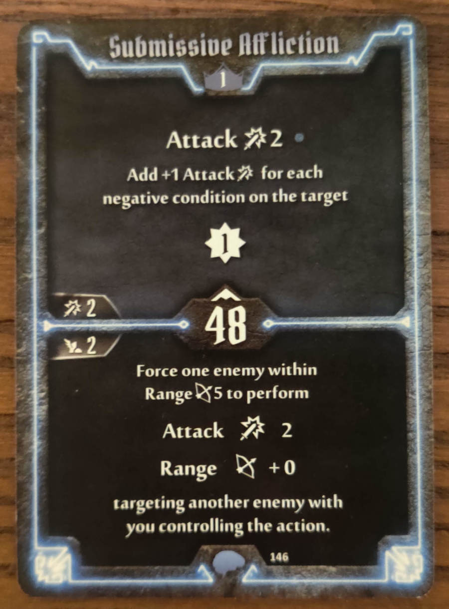 Mindthief level 1 card Submissive Affliction
