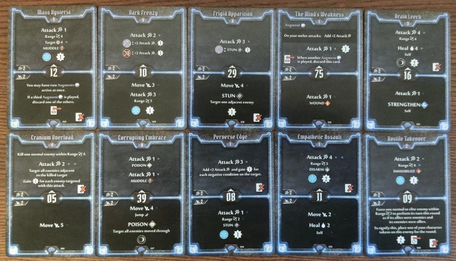 Mindthief damage and stun build level 7 deck cards