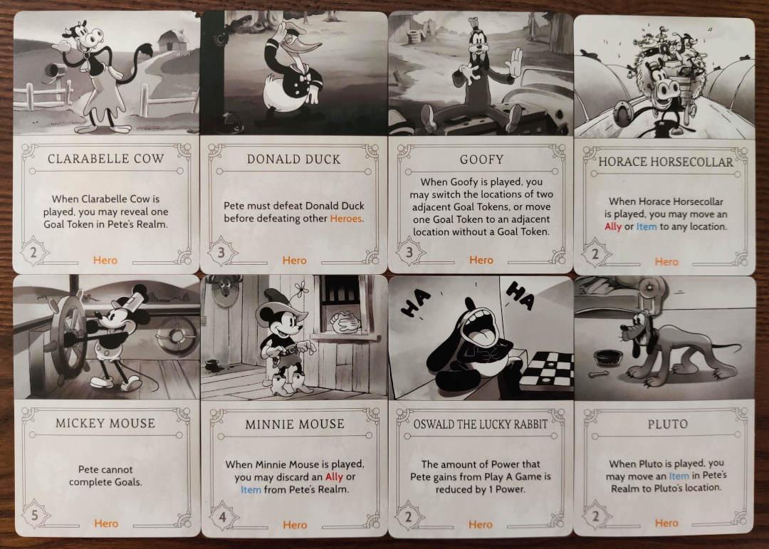 Pete's Fate deck Hero cards