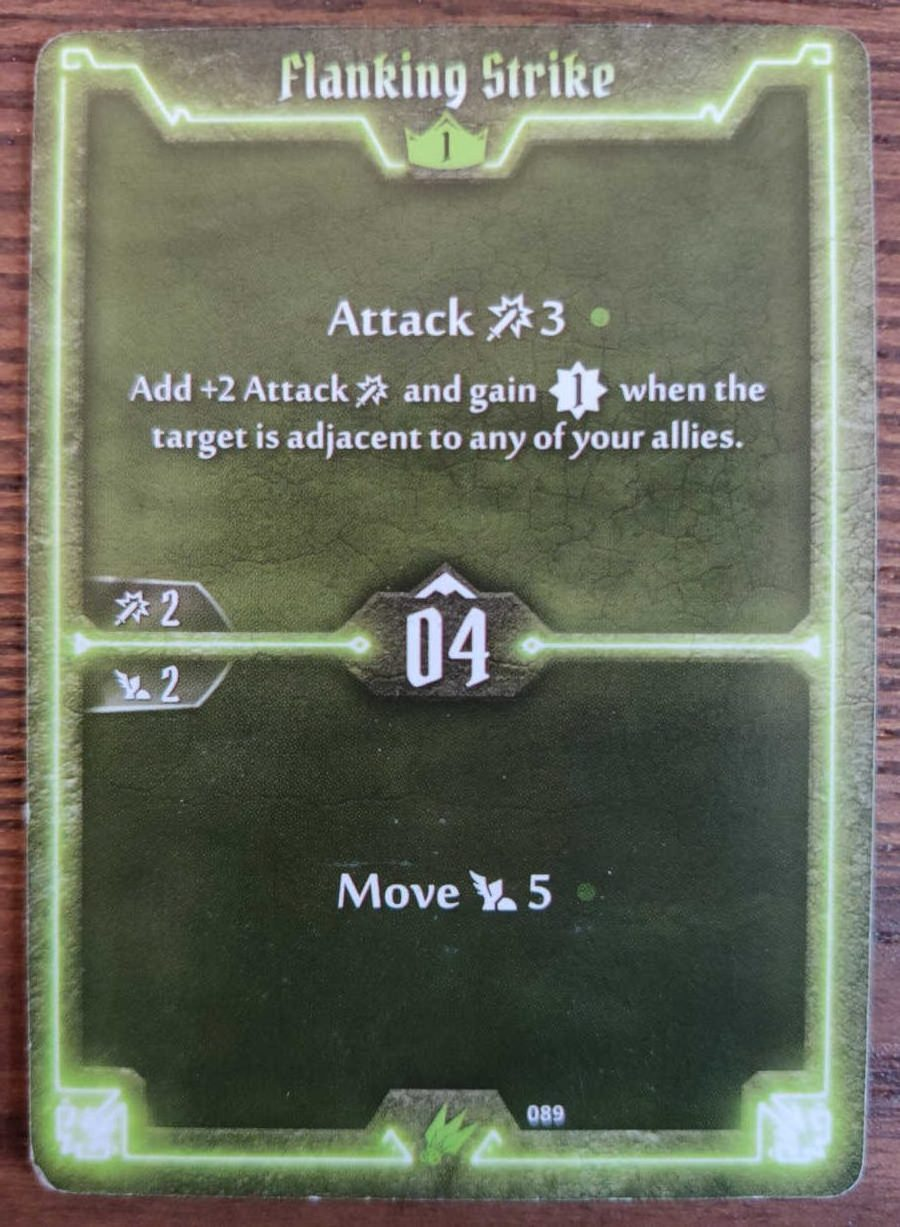 Scoundrel card Flanking Strike
