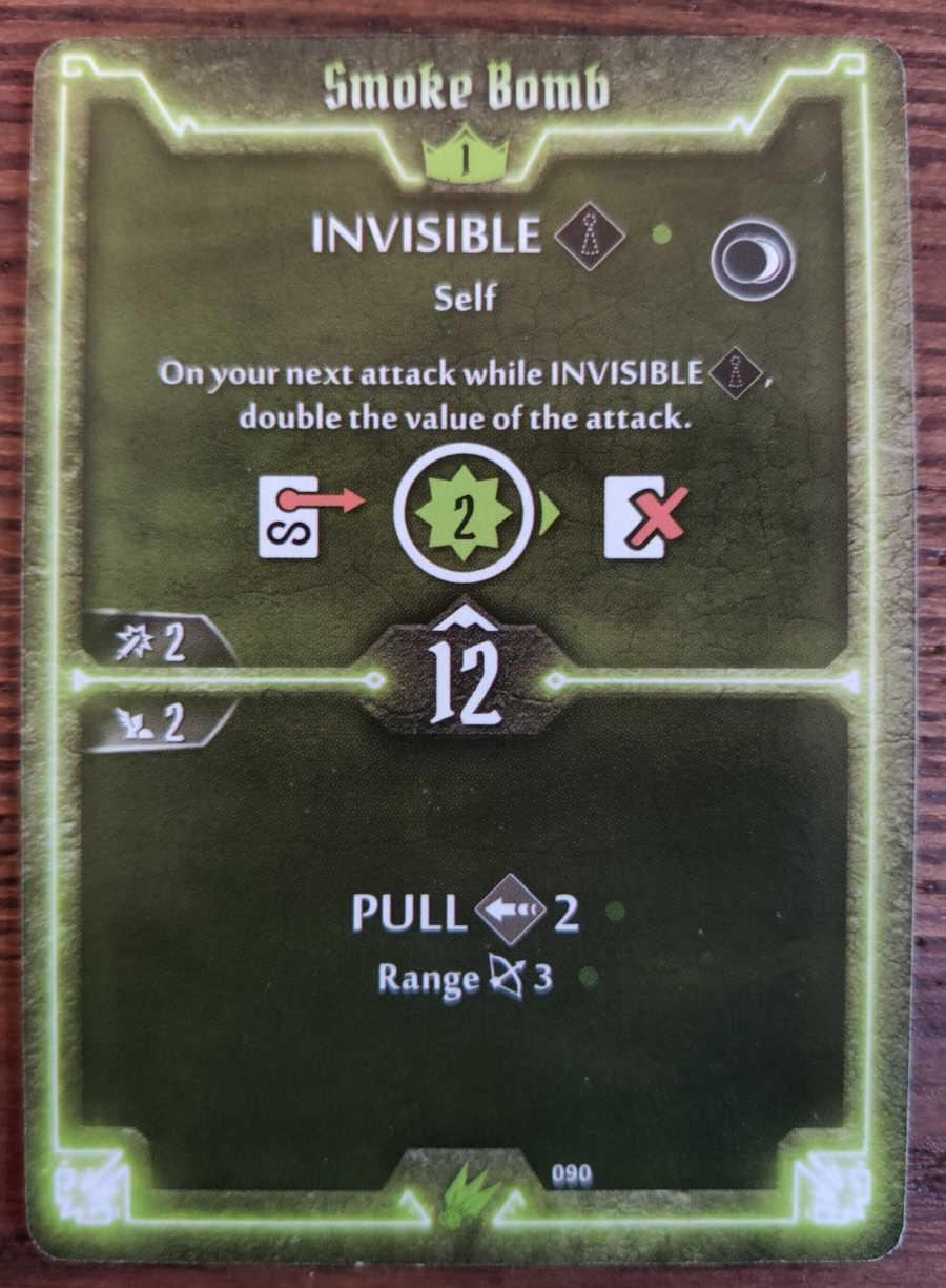 Scoundrel card Smoke Bomb