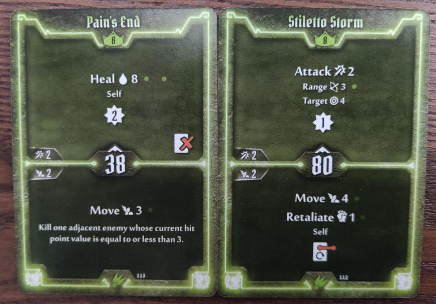 Scoundrel level 8 cards - Pain's End, Stiletto Storm