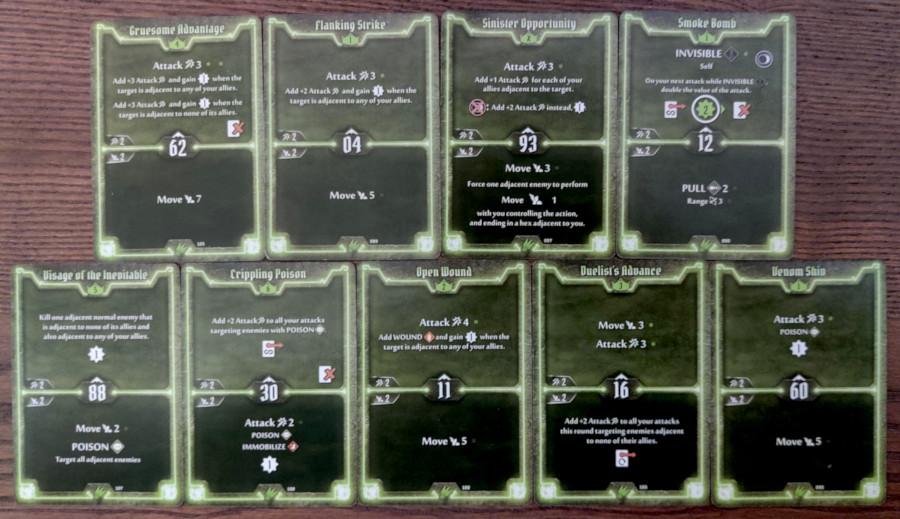 Scoundrel single target poison level 6 deck cards