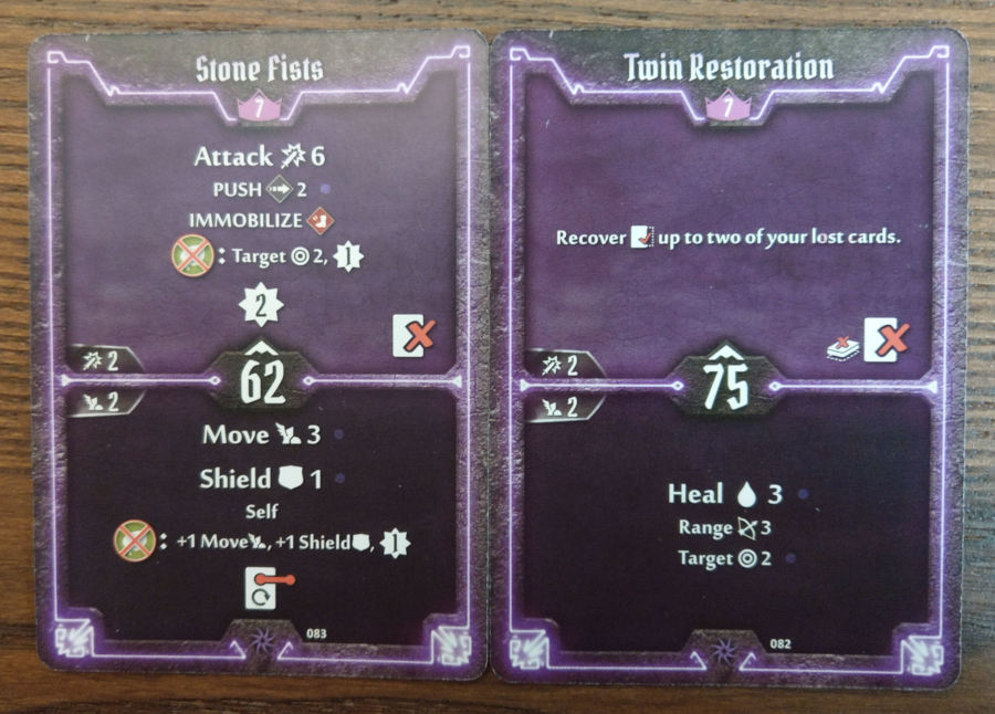 Spellweaver level 7 cards - Stone Fists, Twin Restoration