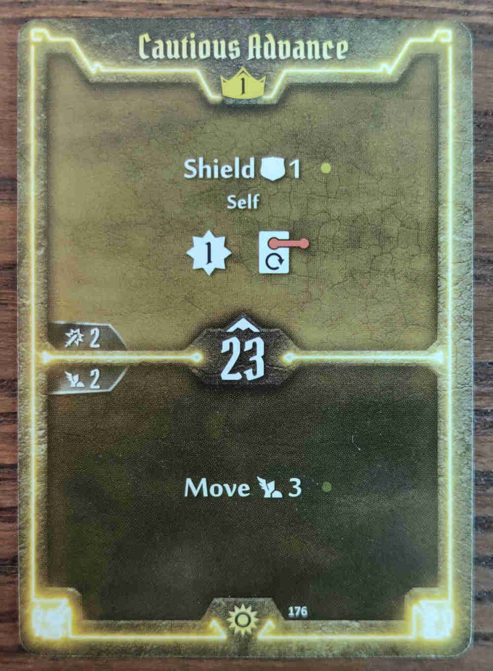 Gloomhaven Level 1 Sunkeeper Cautious Advance card