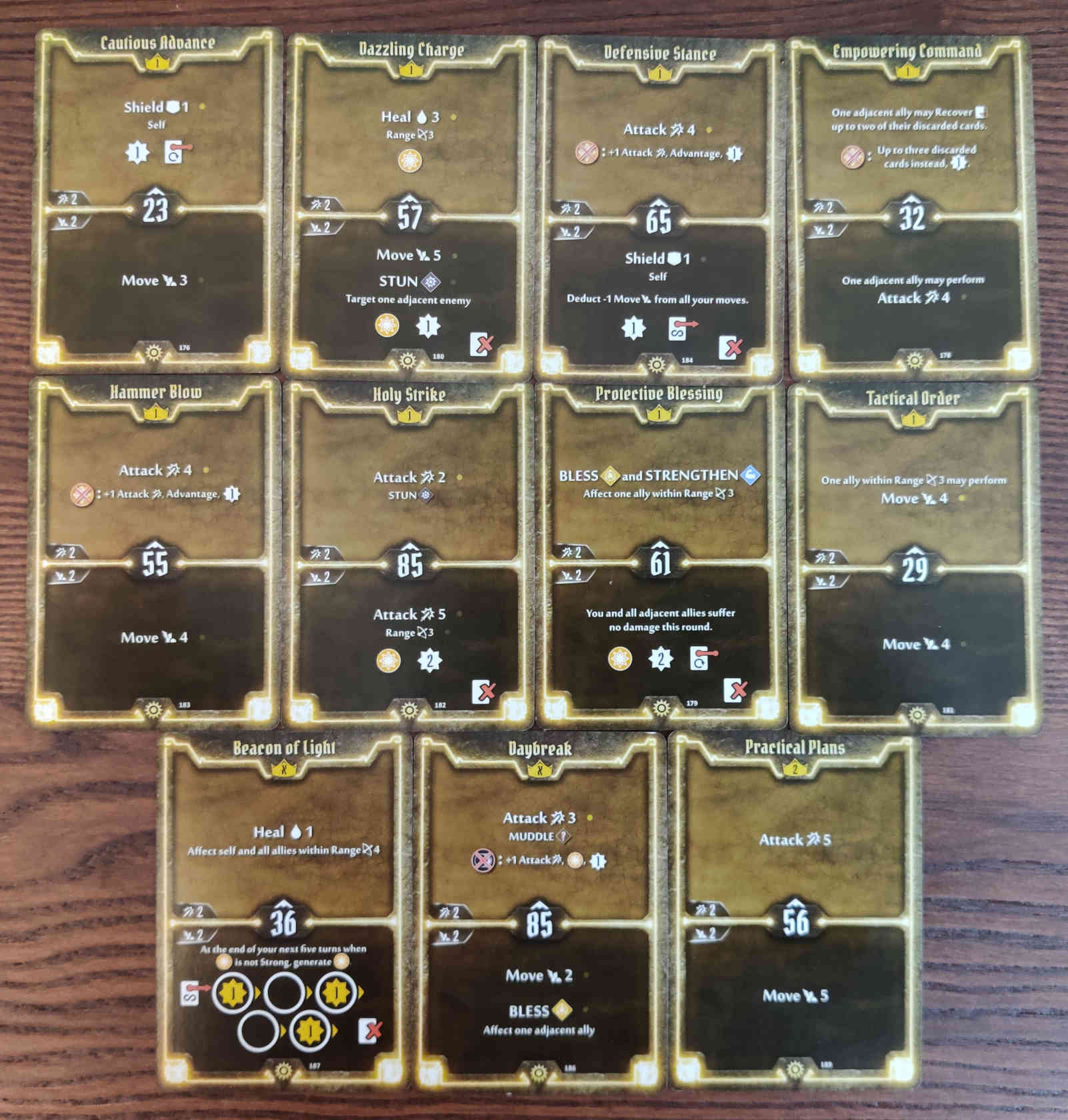 Gloomhaven Sunkeeper Damage Build Level 2 cards