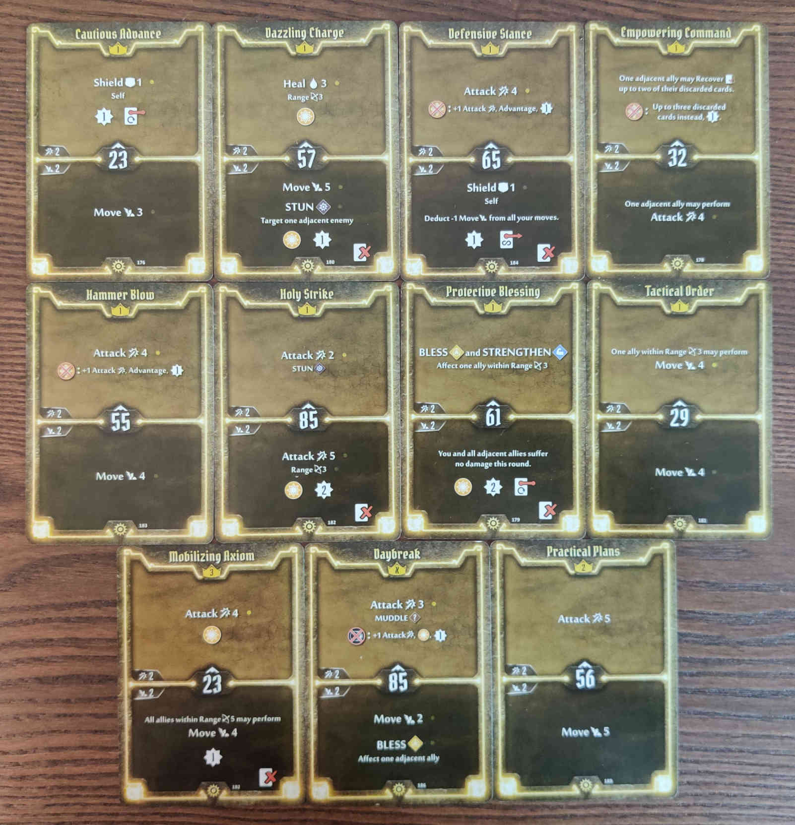 Gloomhaven Sunkeeper Damage Build Level 3 cards