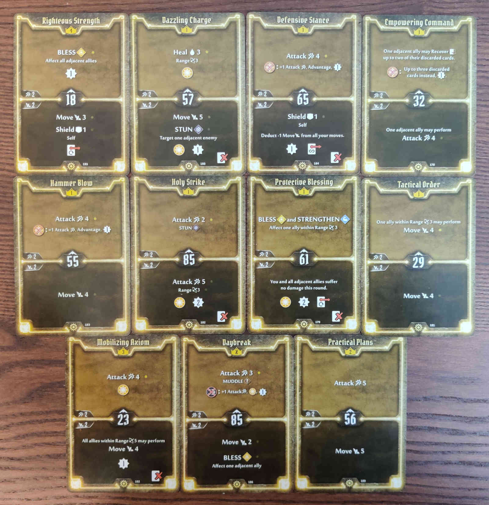 Gloomhaven Sunkeeper Damage Build Level 4 cards