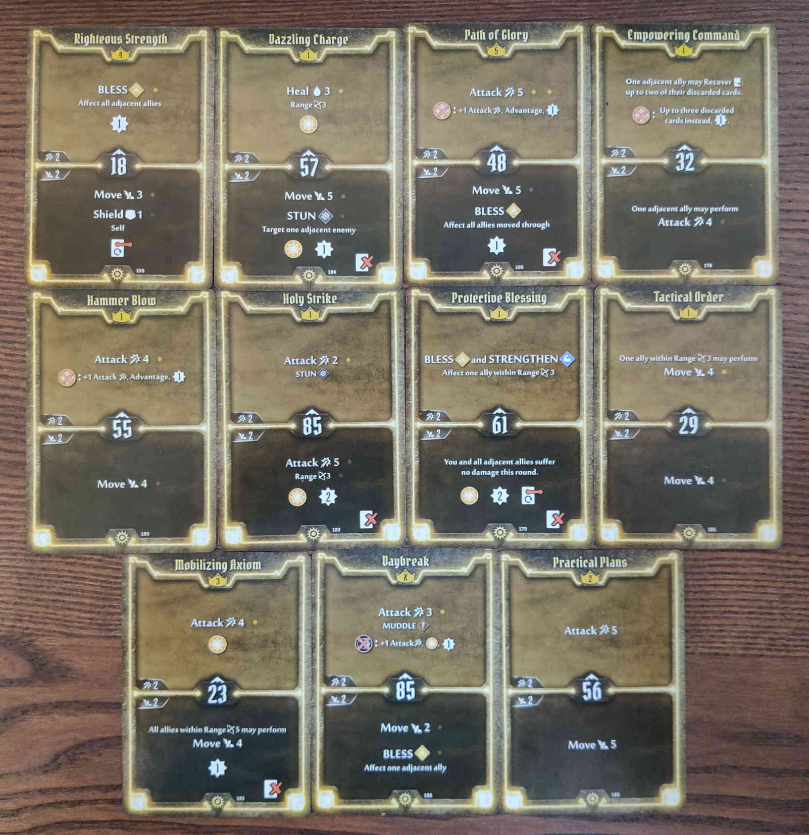Gloomhaven Sunkeeper Damage Build Level 5 cards