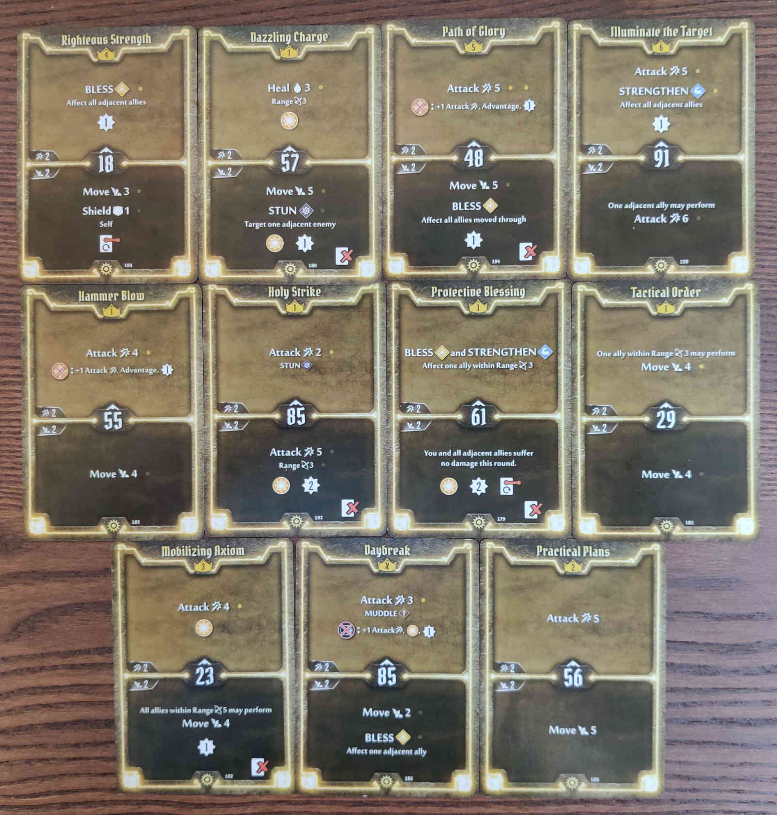 Gloomhaven Sunkeeper Damage Build Level 6 cards