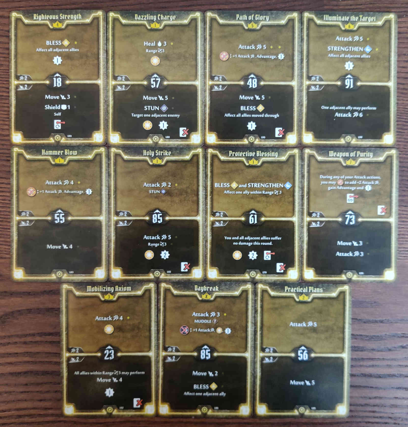 Gloomhaven Sunkeeper Damage Build Level 7 cards