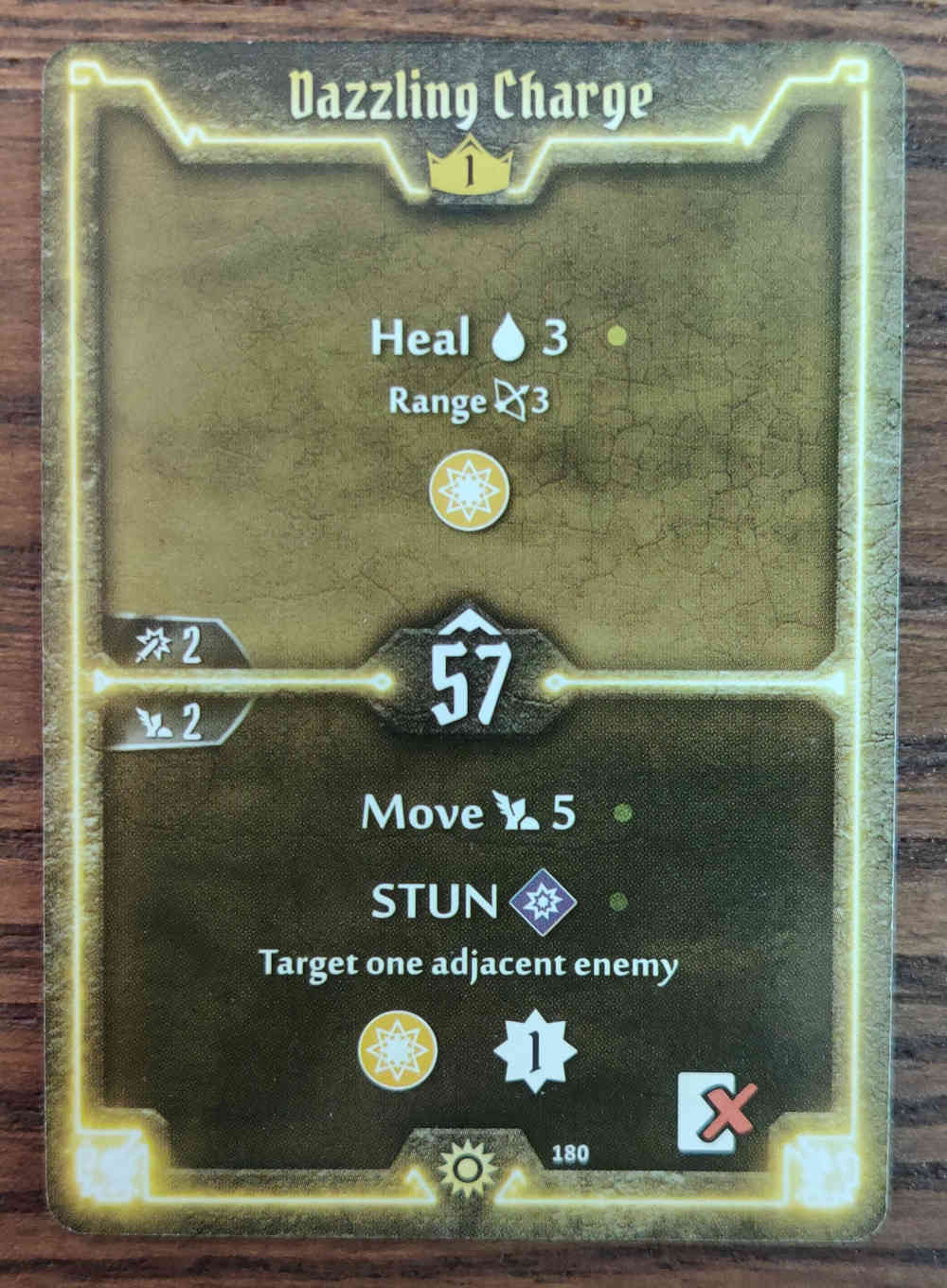 Gloomhaven Level 1 Sunkeeper Dazzling Charge card