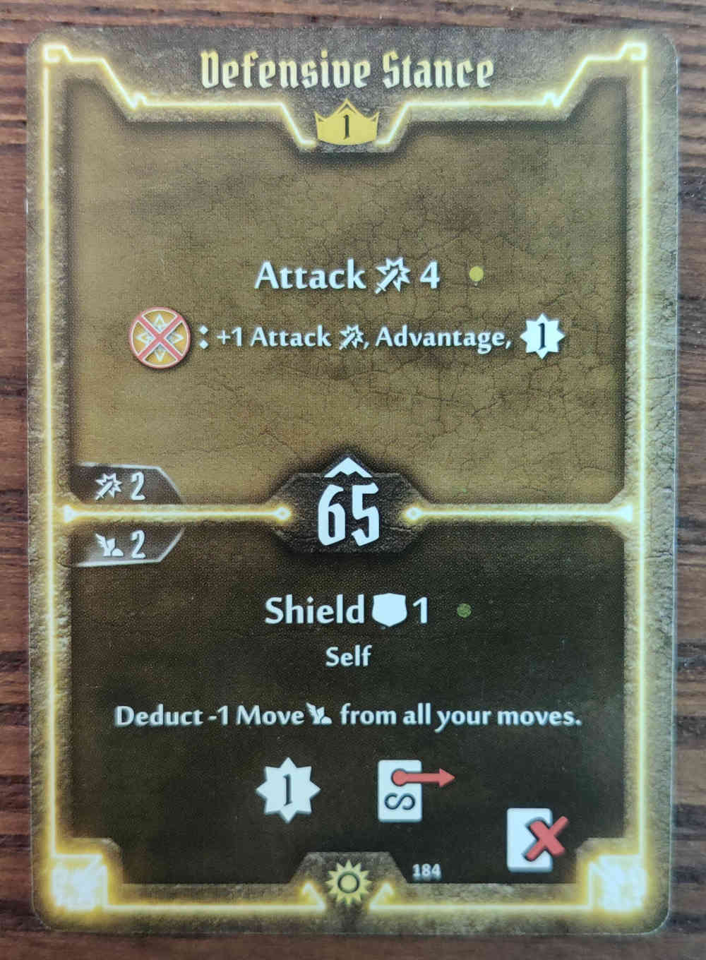 Gloomhaven Level 1 Sunkeeper Defensive Stance card