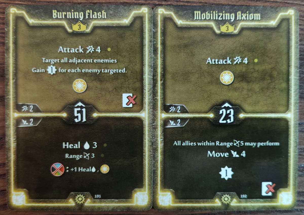 Sunkeeper Level 3 cards Burning Flash and Mobilizing Axiom