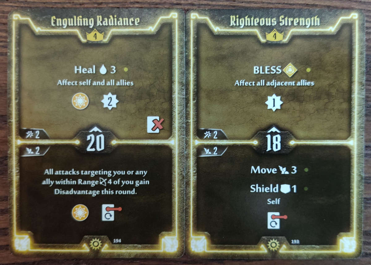 Sunkeeper Level 4 cards Engulfing Radiance and Righteous Strength