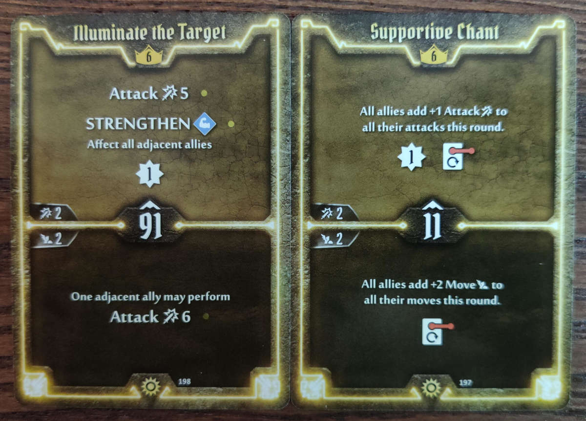 Level 6 Sunkeeper cards Illuminate the Target and Supportive Chant