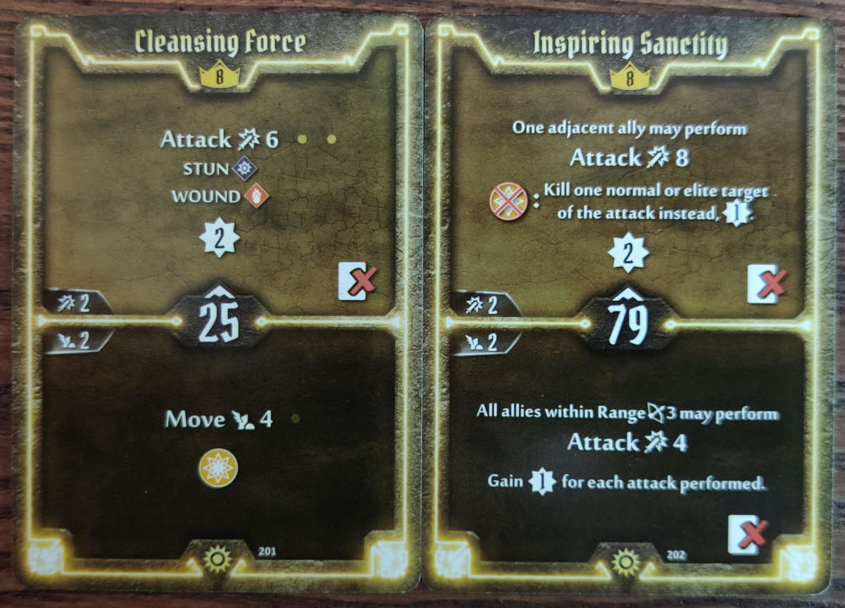 Sunkeeper Level 8 cards Cleansing Force and Inspiring Sanctity
