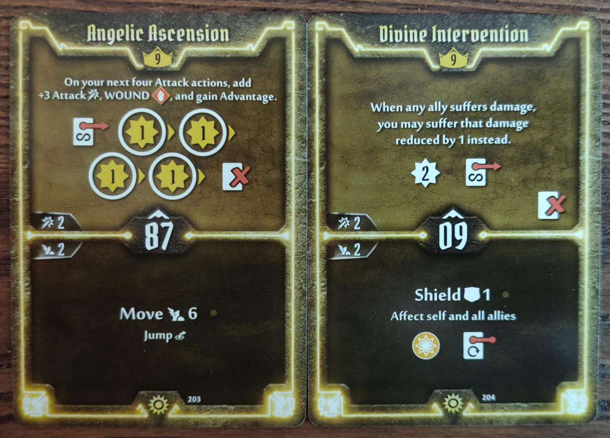 Level 9 Sunkeeper cards Angelic Ascension and Divine Intervention