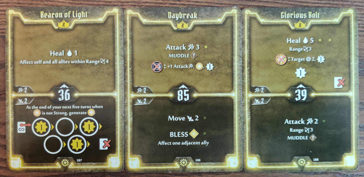 Sunkeeper Level x cards, Beacon of Light, Daybreak and Glorious Bolt