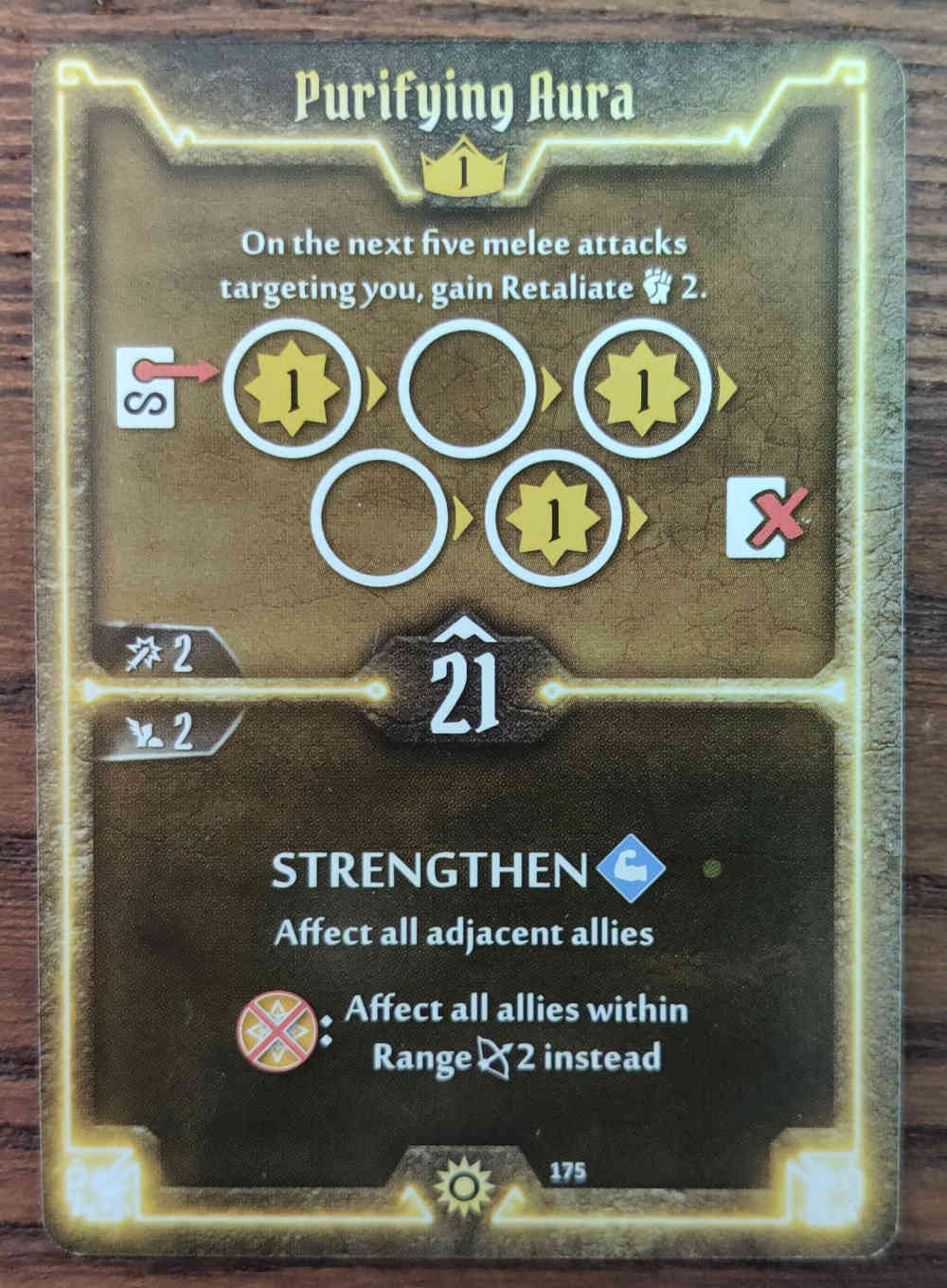 Sunkeeper card Purifying Aura Gloomhaven