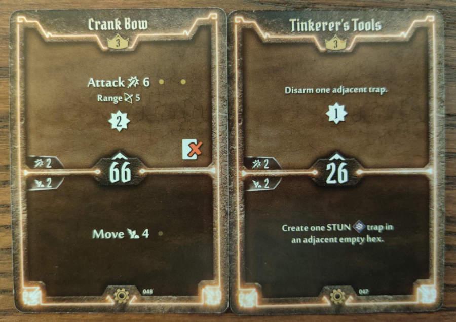 Tinkerer level 3 cards - Crank Bow, Tinkerer's Tools