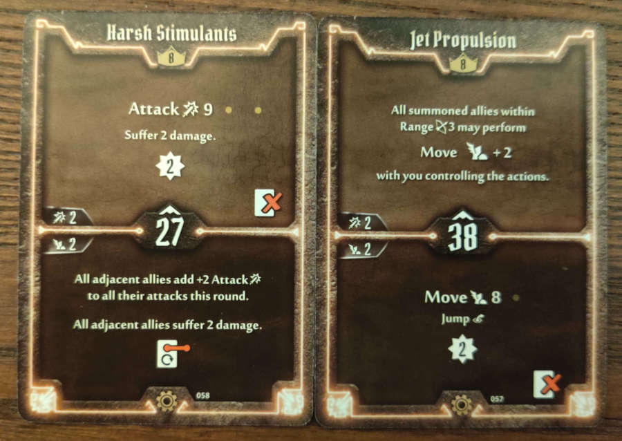 Tinkerer Level 8 cards - Harsh Stimulants, Jet Propulsion