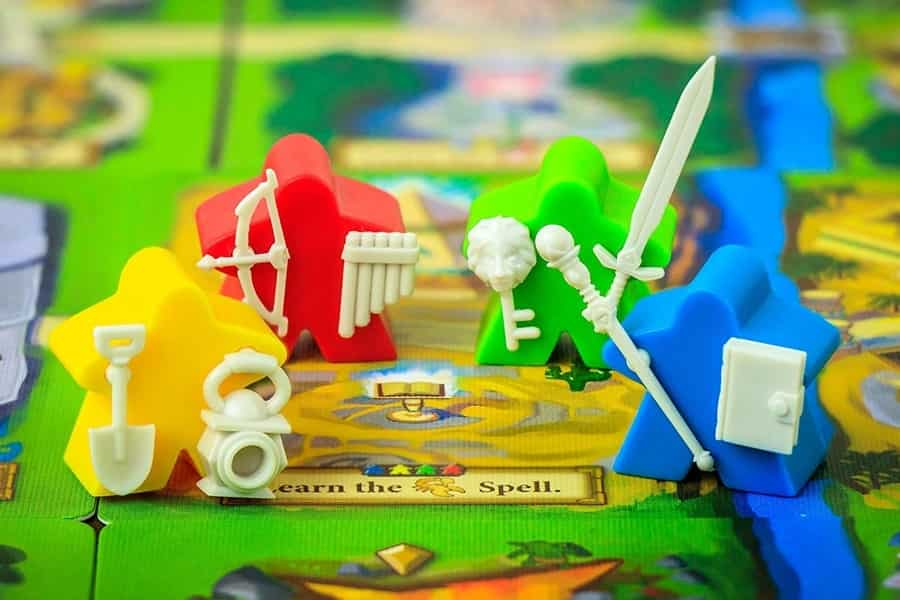 Meeples in Tiny Epic Quest - Image credit: Gamelyn Games
