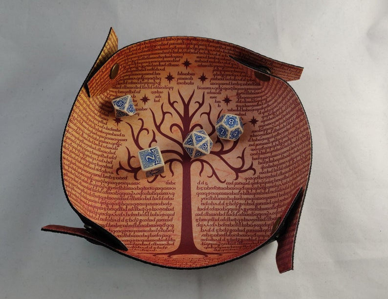 Tree of Gondor dice tray. Image credit: BoardGameSolutions on Etsy.